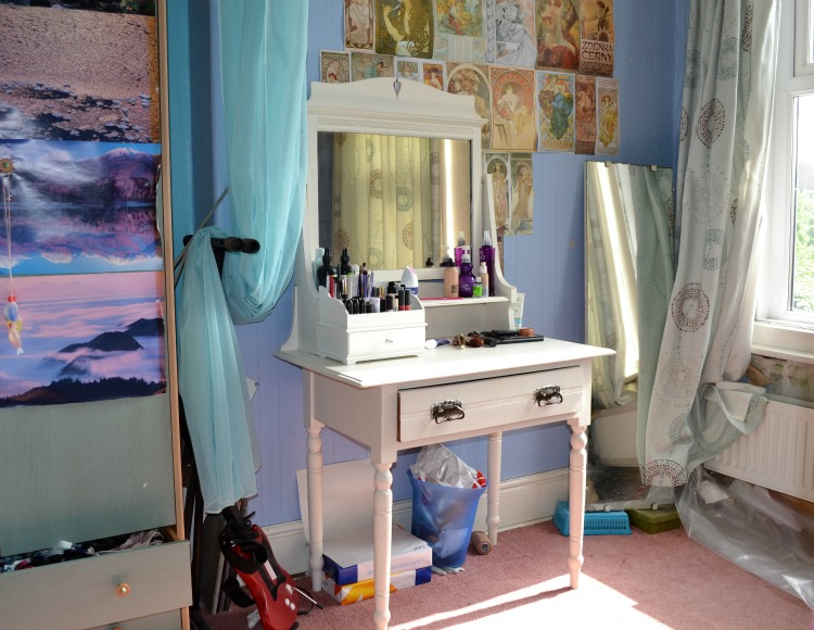 shabby chic diy white dressing table