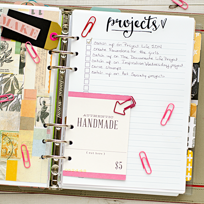 A5 planner insert printables - projects