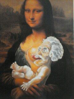 Postal desde el Louvre