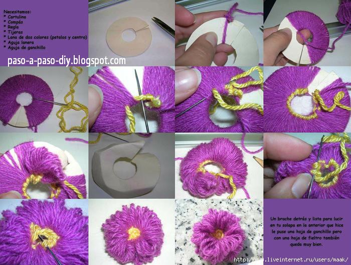Cómo hacer flor pom pom / DIY | Paso a Paso