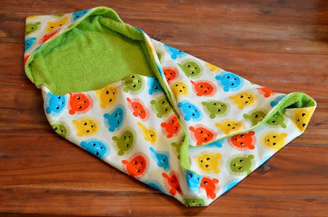 tutorial babyhandtuch kapuze hooded baby towel