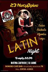 23/11 Latin Night στο Bonobo
