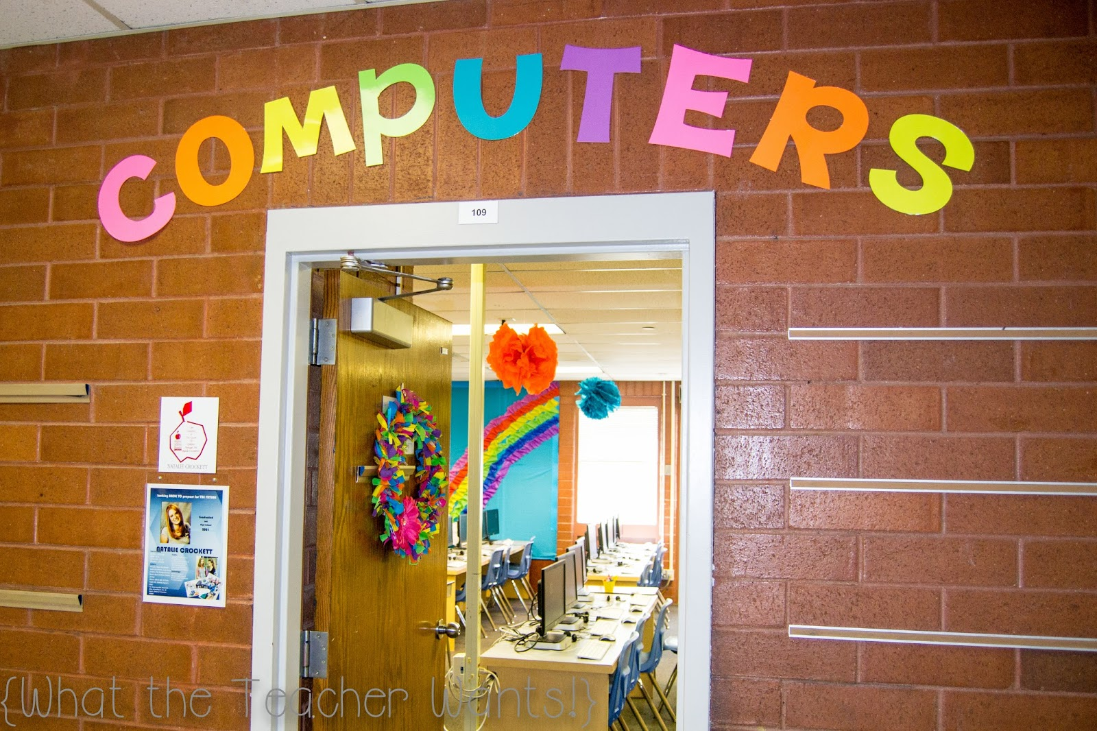 Computer Classroom Decoration : What the teacher wants classroom tour compter lab