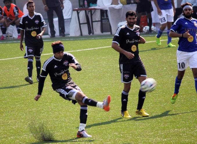 Abhishek Bachchan, Ranbir Kapoor & Aditya Roy Kapur at the Celebrity Football Match