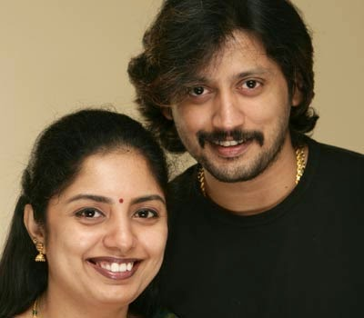 Prashanth with wife Grihalakshmi