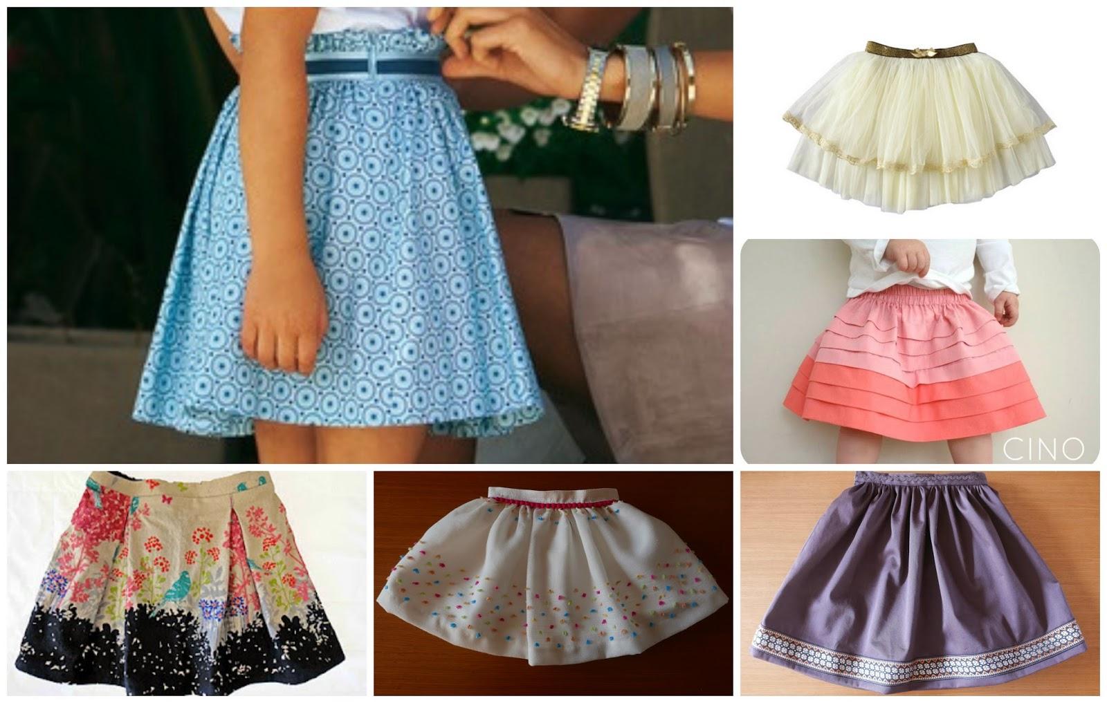 Distintos modelosde faldas de vuelo para niña