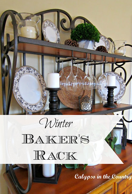 Winter Baker's Rack - Calypso in the Country blog