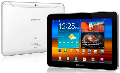 Samsung Galaxy Tab 8.9 4G P7320T Front / Back
