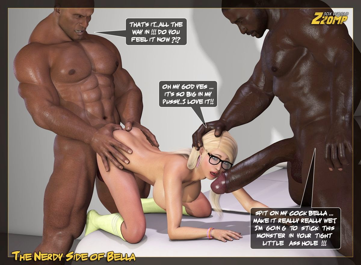 3d young interracial porn threesome