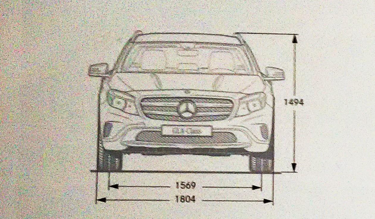 Mercedes Benz GLA design