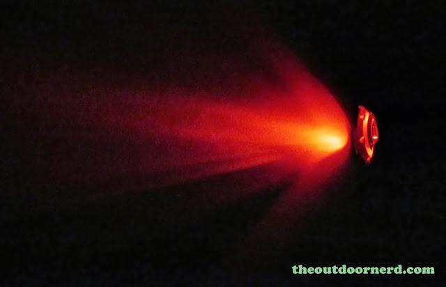 Nitecore SRT3 Defender EDC Flashlight: Red Beam Shot