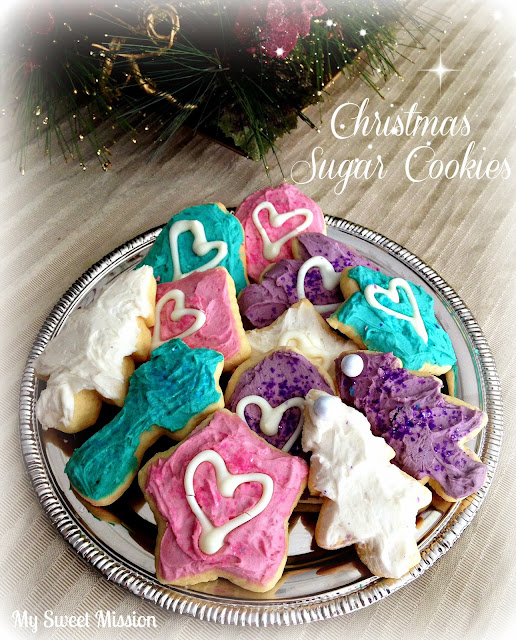 Christmas Sugar Cookies by My Sweet Mission from www.anyonita-nibbles.com