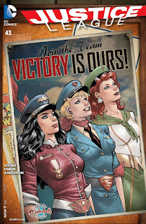 Alternate Bombshells cover to Justice League #43 from DC Comics