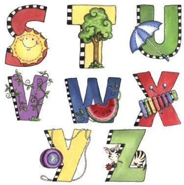 Alfabeto con todas las letras para recortar.