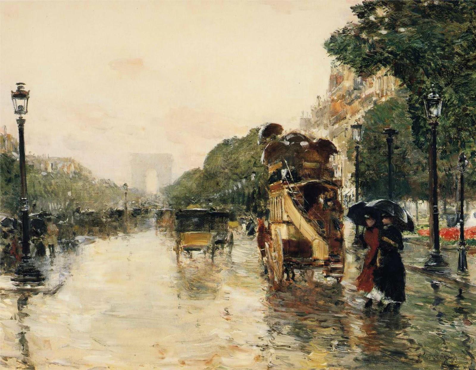 Watercolor artists directory wiki - Champs Elys Es Paris 1889