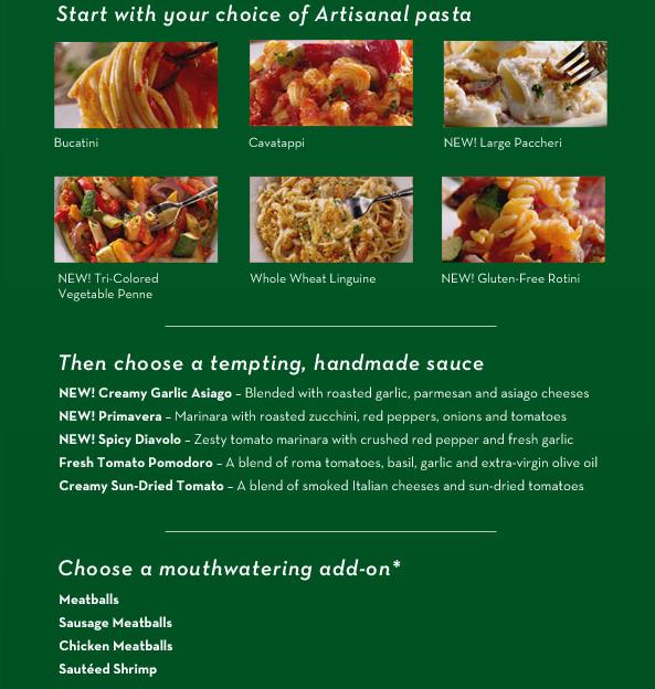 New Restaurant Food Deals Olive Garden New Cucina Mia