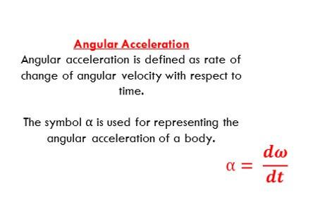 Angular Acceleration Formula Basics Of Electrical Engineering