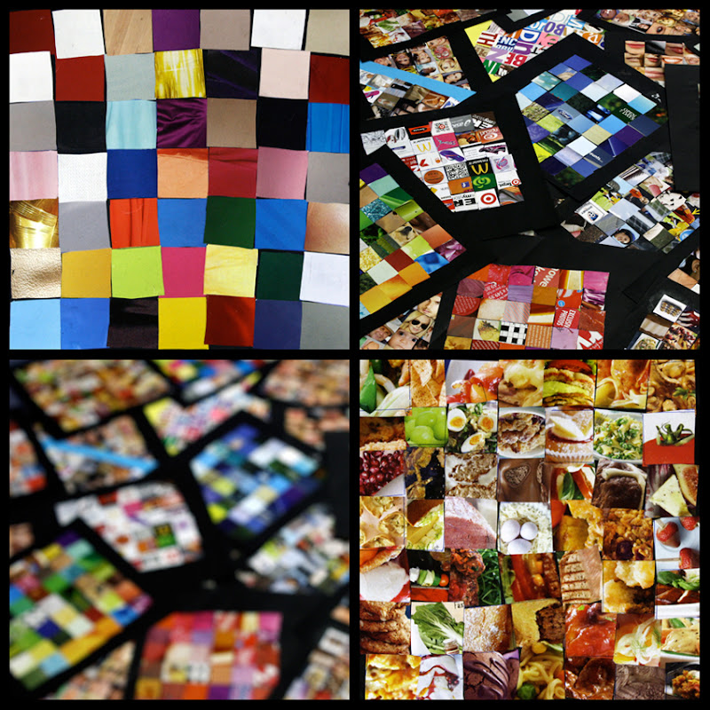 Square Collage with Magazines