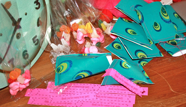 peacock children kids party craft