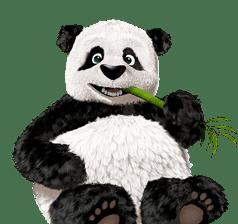 La mascota de TinyPNG. Un simpágico panda.