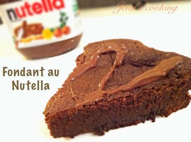 Jenn 39 s cooking fondant au nutella - Gateau au nutella fondant ...