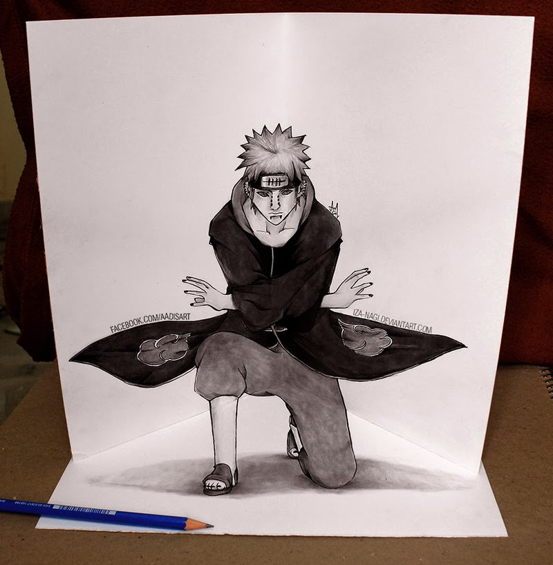 13-Pein-Izanagi-Aadi-aka-Iza-nagi-3D Pencil Drawings-www-designstack-co