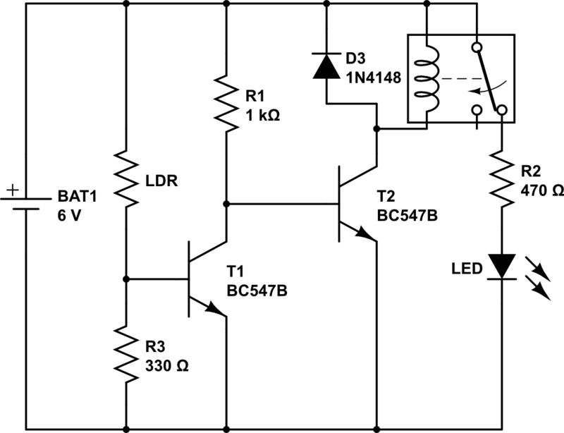 electronics for hobbyist  dark sensor