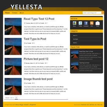 Yellesta blogger template. elegant blogger template for blog