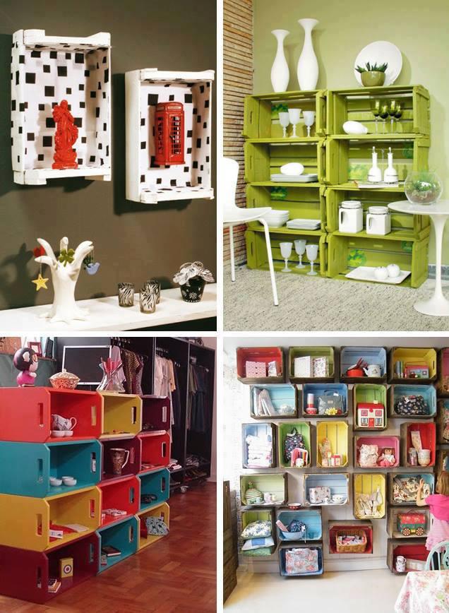 Hazlo t mismo muebles con cajas construccion y - Decorar reciclando muebles ...