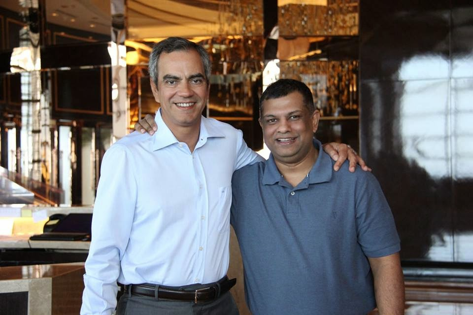 Solaire owner Enrique Razon Jr and Air Asia Global CEO Tony Fernandes