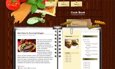 Cook Book Blogger Templates
