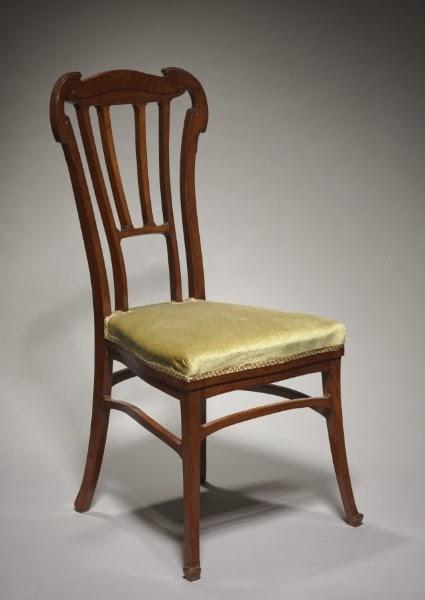 Mahogany Chair / Victor Horta / c. 1900