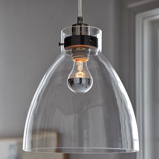 Seahorse & Stripes: Modern Glass Kitchen Island Pendants
