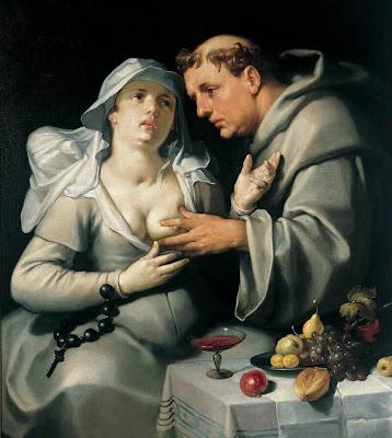 Cornelis Cornelisz van Haarlem  - un moine et une beguine,1591