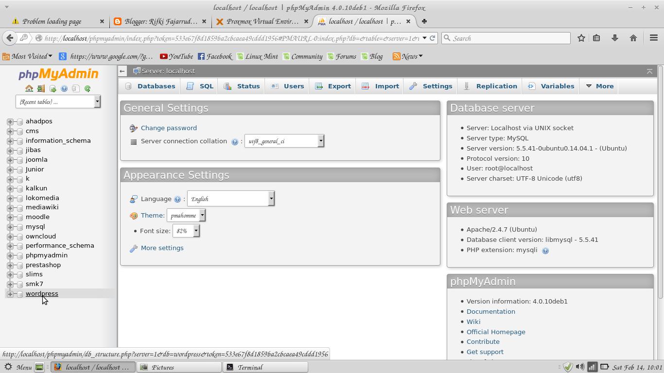 cara install wordpress di linux mint