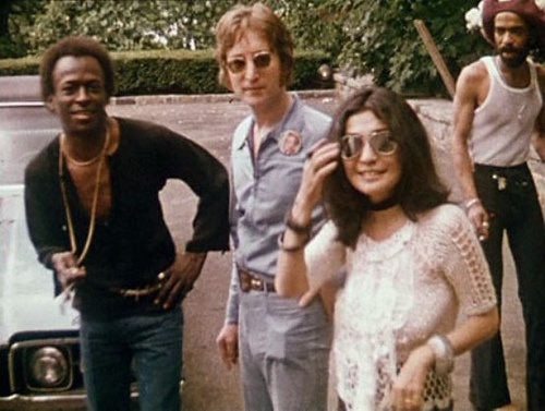Miles Davis, John Lennon, and Yoko Ono