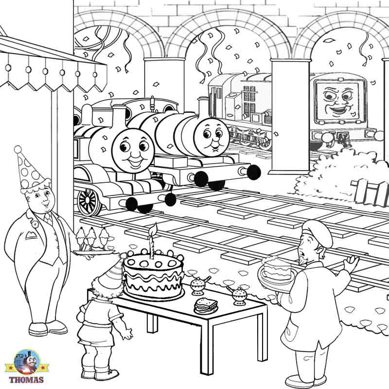Thomas coloring pictures pages to print and color kids for Thomas the train color page