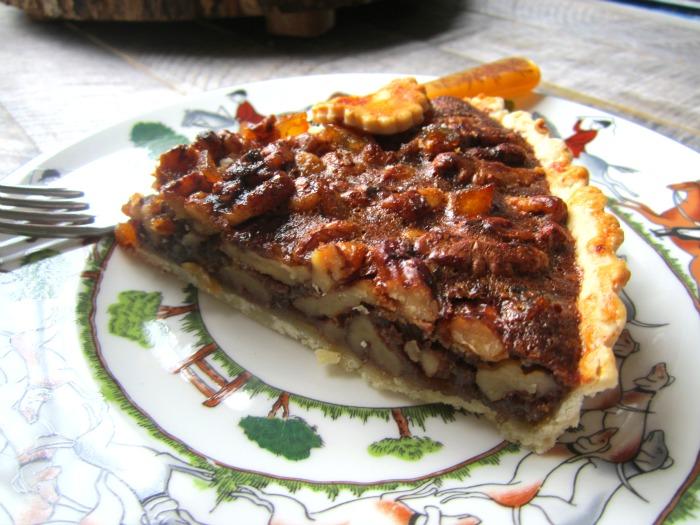 Stacey Snacks: Honey Walnut Tart w/ Candied Orange Peel