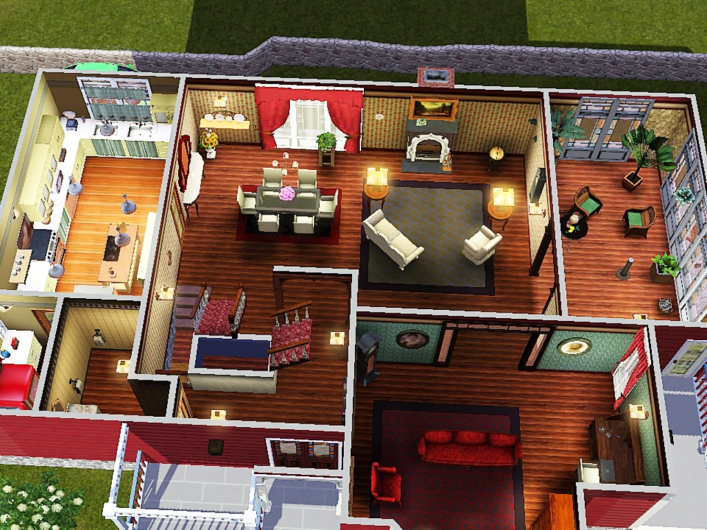 Sims and just stuff halliwell manor from charmed by for Charmed house blueprints