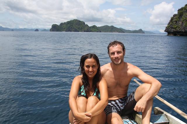 Disfrutando de la excursión de snorkel en El Nido
