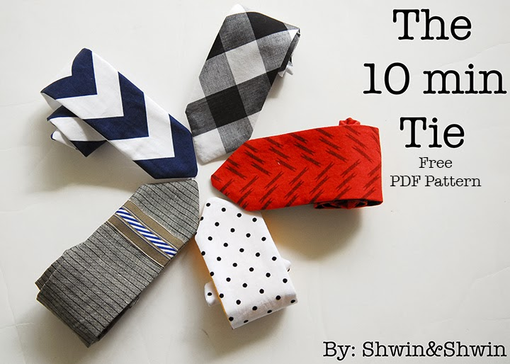 10 Min Tie With Free Pdf Pattern Shwin And Shwin
