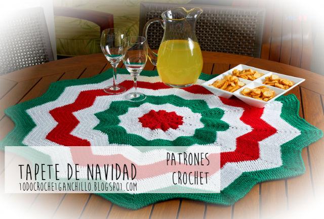 Tapete de Navidad para tejer con ganchillo | Todo crochet