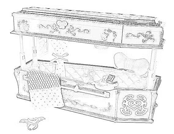 Dibujos de camas para colorear cama de barbie cama de for Cama para colorear