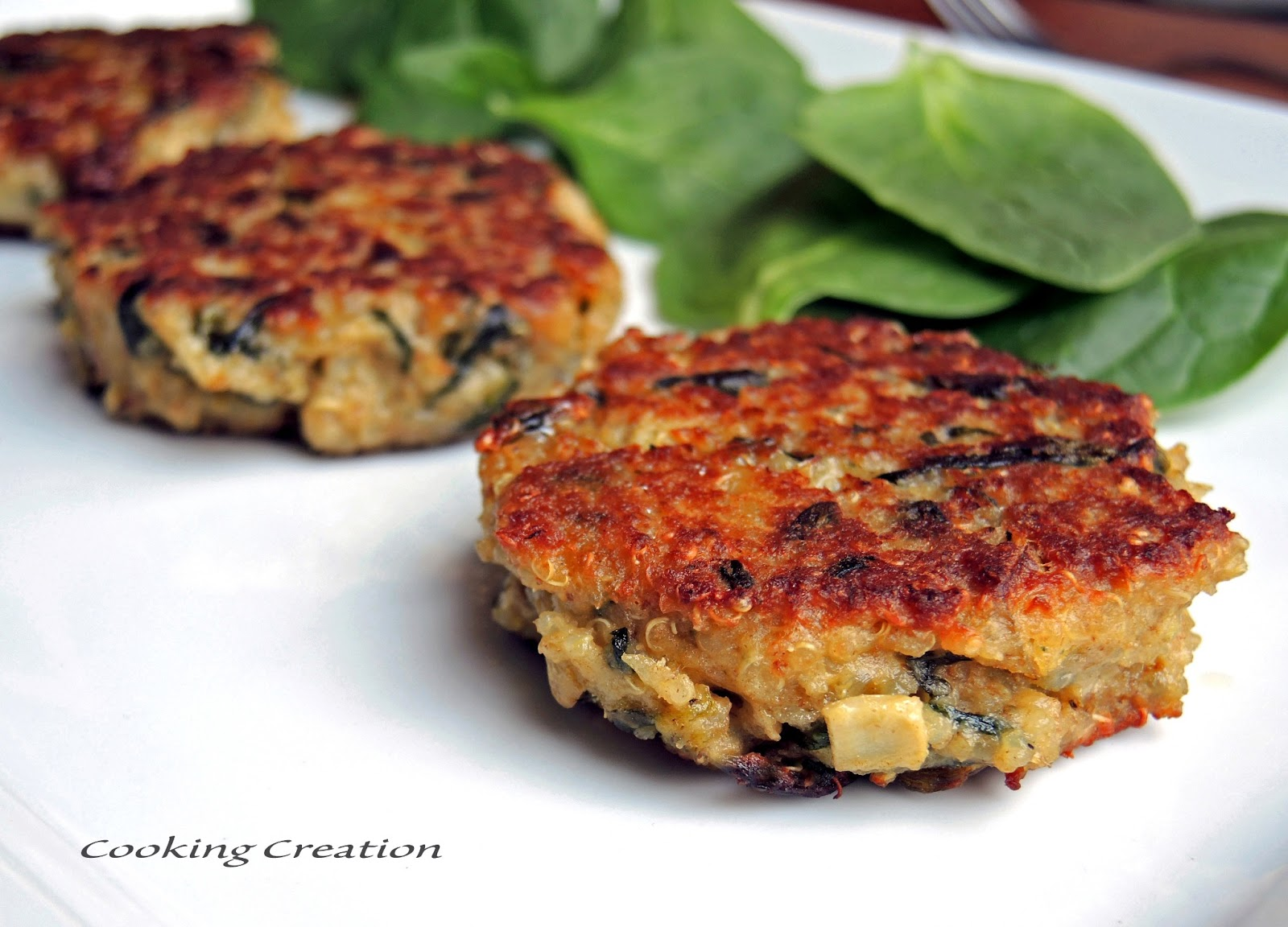 Cooking Creation: Quinoa Cakes with Artichoke, Spinach & Caramelized ...