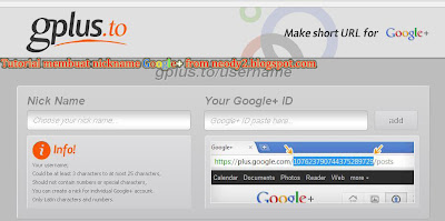 cara membuat nickname google +
