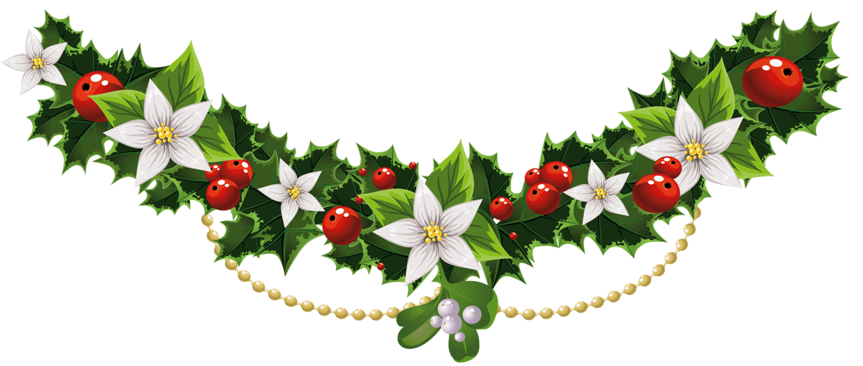 ... Card & Wallpapers Free: Christmas Garland Clip Art Free Download