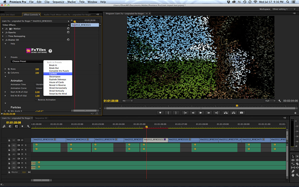 Adobe Premiere Pro CC 7.2.2 Screenshot