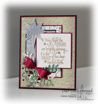 Our Daily Bread Designs, Snowflake Stars, Splendorous Stars, Lovely Leaves, Small Bow, Winter Collection, Designed by Diana Nguyen