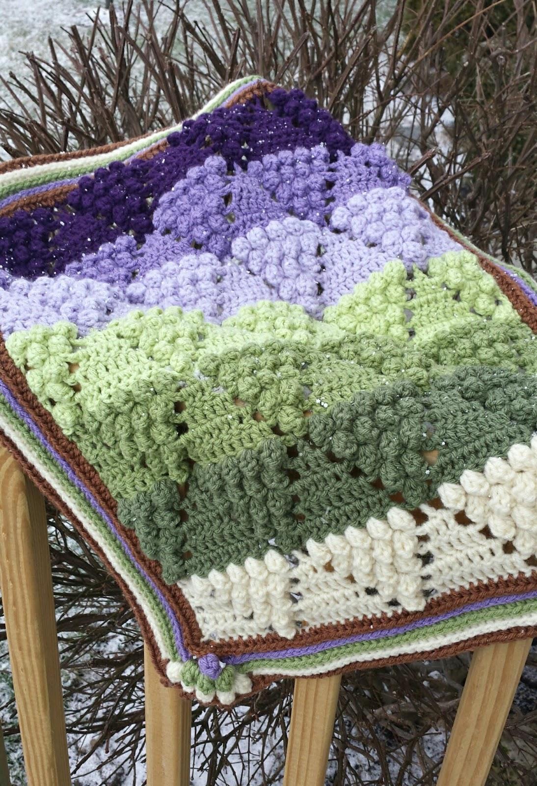 Felted Button - Colorful Crochet Patterns: Vintage Vineyard Blanket ...