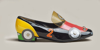 vintage 1960s racing car shoe